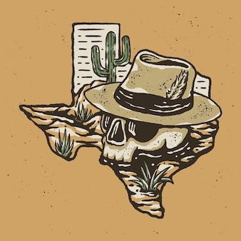 Texas woestijn illustratie