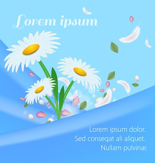 Text banner advertising hygiene feminine product