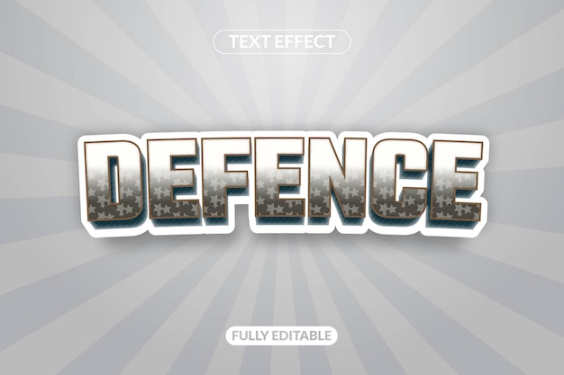 Text effect defense game play