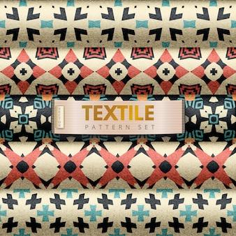 Textiel patroon ingesteld