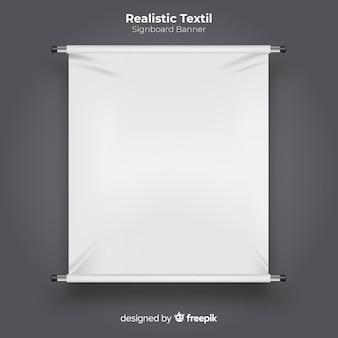 Textiel uithangbord banner