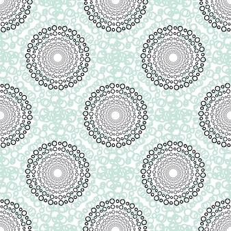 Textiel vector naadloos patroon. toevallige maniertextuur als achtergrond. mint kleur. abstract stoffenontwerp
