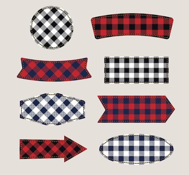 Textieletiketten. tags stof textuur