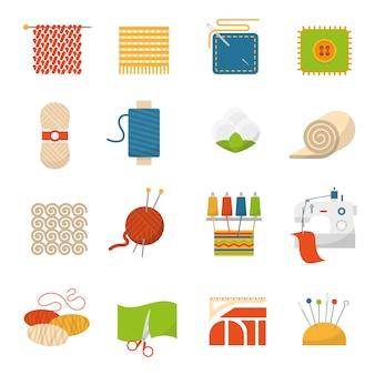 Textielindustrie iconen