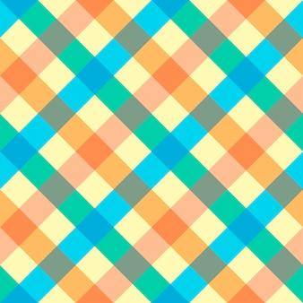Texturen van stoffen in een kooi, naadloos patroon