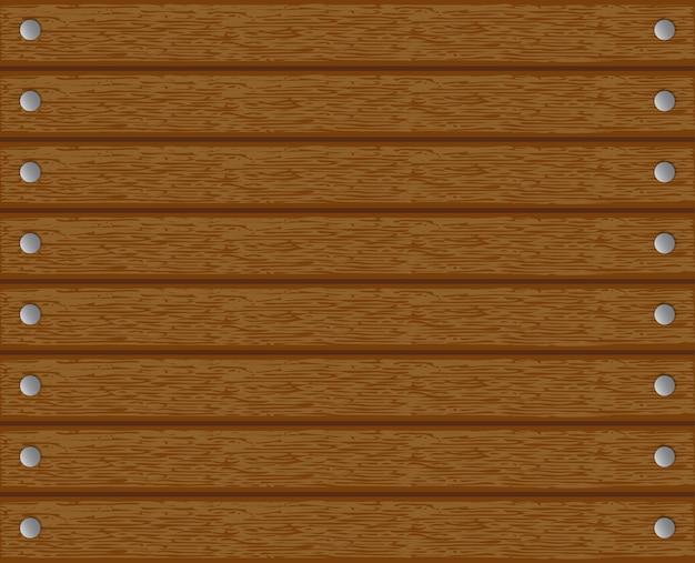 Textuur, achtergrond, hout met spijkers