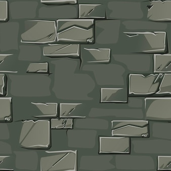 Textuur achtergrond van een oude stenen muur. vuile grijze muur naadloze patroon.
