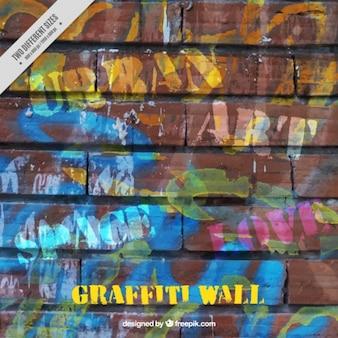 Textuur van een graffiti op de muur