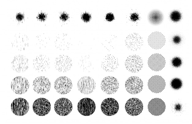 Textuur van vele zandkorrels op cirkel