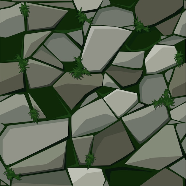 Textuur voor straatsteen op het gras.