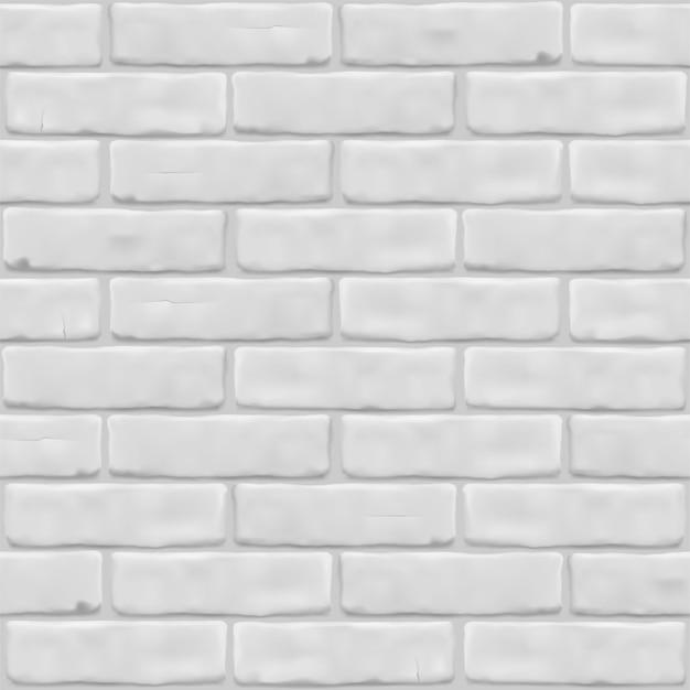 Textuur witte bakstenen muur voor buitenkant, interieur, website, achtergrond, grafisch ontwerp. naadloze patroon.