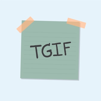 Tgif-notitieillustratie