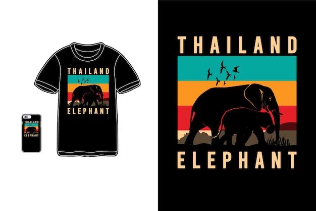 Thailand olifant t-shirt koopwaar silhouet