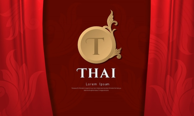 Thais patroon traditioneel concept, the arts of thailan.