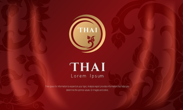 Thais patroon traditioneel concept the arts of thailand.