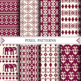 Thais pixelpatroon
