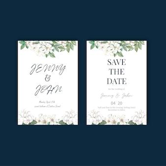 Thaise bloemen bruiloft kaart ontwerp
