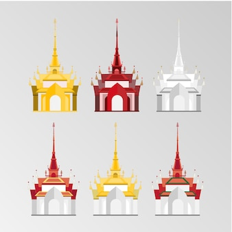 Thaise kasteel vector set