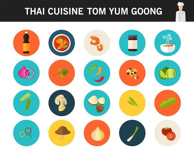 Thaise keuken tom yum goong spicy thai shrimp soup concept