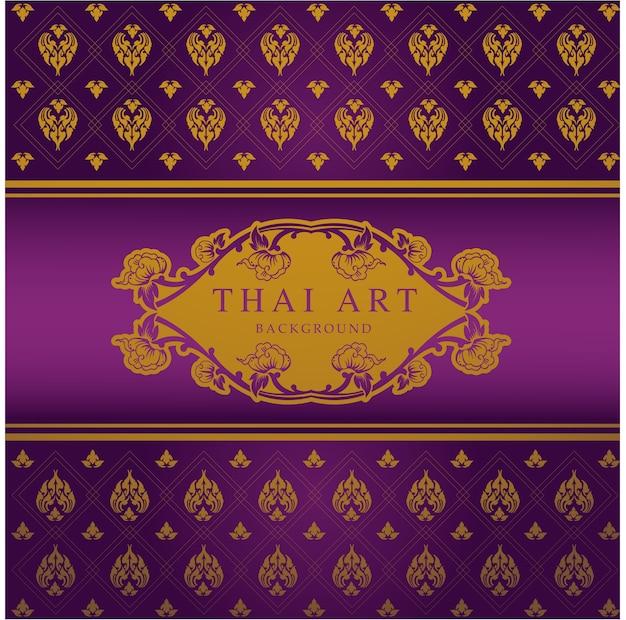 Thaise kunst patroon achtergrond vector