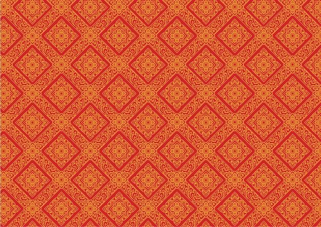 Thaise patroon uitstekende vectorillustrator
