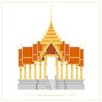 Thaise traditionele architectuur gebruikt voor koninklijke paleizen en tempels