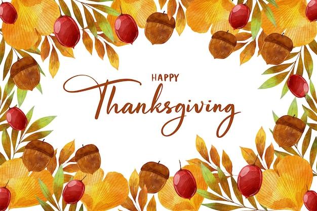 Thanksgiving achtergrond aquarel stijl