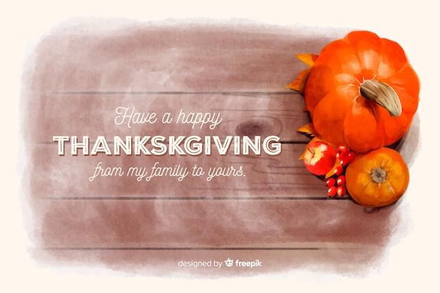 Thanksgiving achtergrond in aquarel