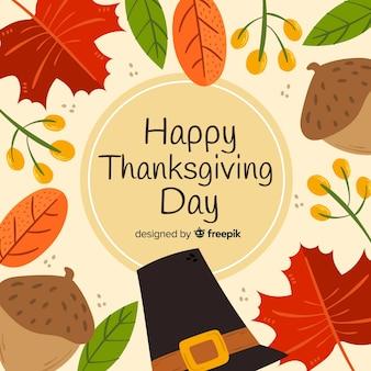 Thanksgiving achtergrond in de hand getekend