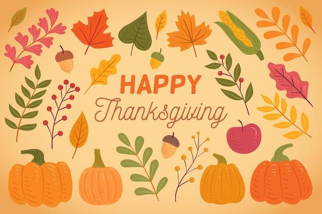 Thanksgiving achtergrond met oogst