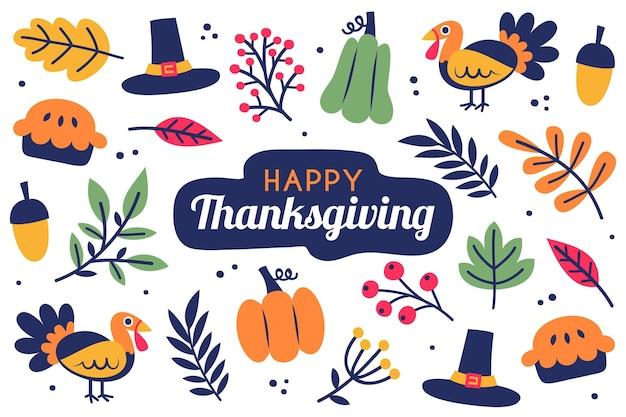 Thanksgiving achtergrond met voedsel