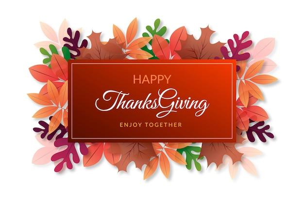 Thanksgiving achtergrond realistisch ontwerp