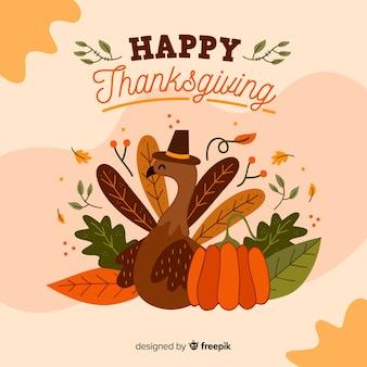 Thanksgiving achtergrondbehangontwerp