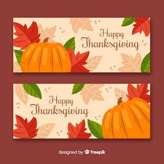 Thanksgiving banners tekenen concept