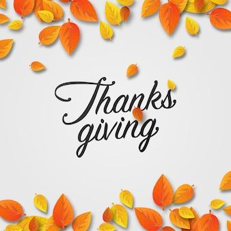 Thanksgiving belettering