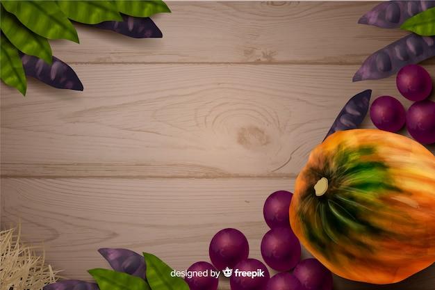 Thanksgiving concept met realistische achtergrond