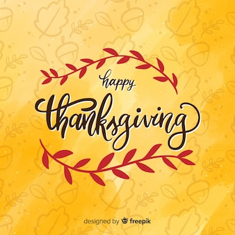 Thanksgiving day achtergrond met belettering