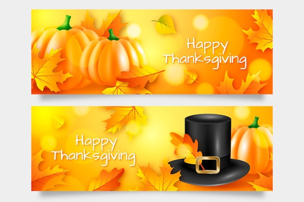 Thanksgiving day banner ontwerp