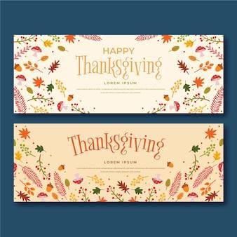 Thanksgiving day banner stijl