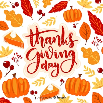 Thanksgiving day belettering achtergrond