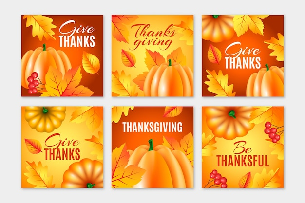 Thanksgiving day instagram posts sjabloon
