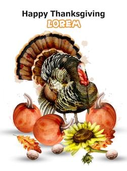 Thanksgiving day-kaart