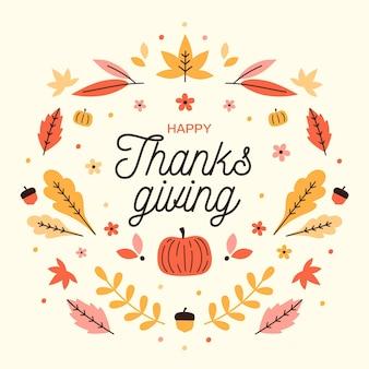 Thanksgiving day kleurrijk behang