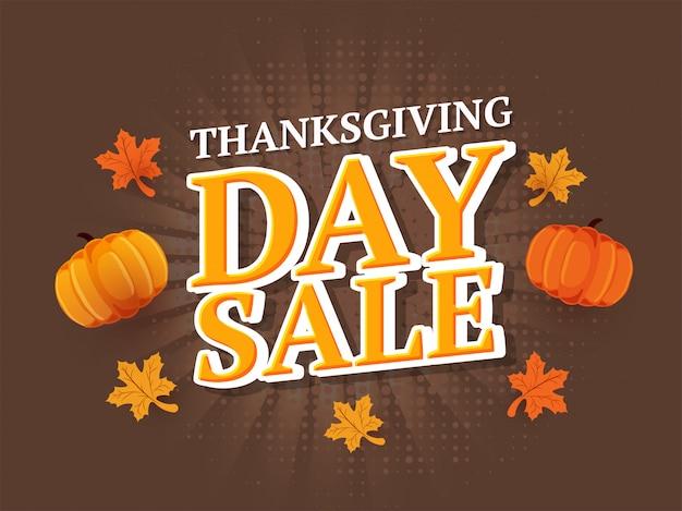 Thanksgiving day verkoop sjabloon of flyer.