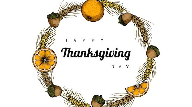 Thanksgiving dayachtergronden met bloem en blad