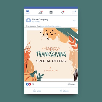 Thanksgiving facebook-bericht