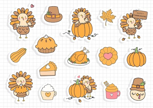 Thanksgiving gnome sticker, pompoen gnome planner en plakboek.