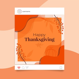 Thanksgiving instagram postsjabloon