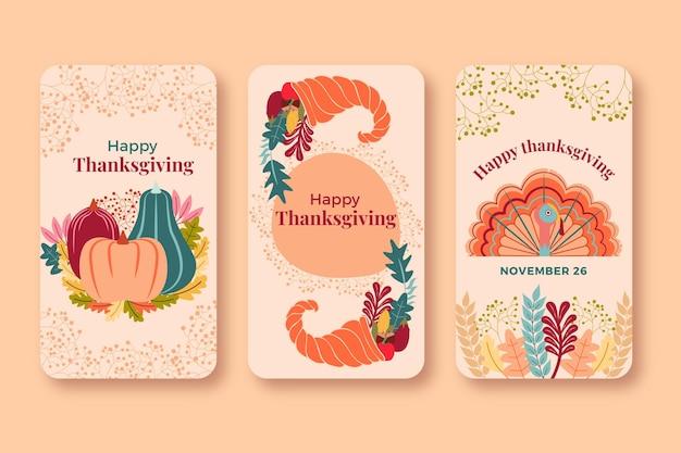 Thanksgiving instagram-verhalenpakket