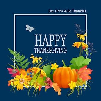 Thanksgiving kaart concept